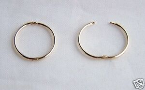 Image Is Loading 9ct Gold 15mm Small Plain Hinged Hoop Sleepers