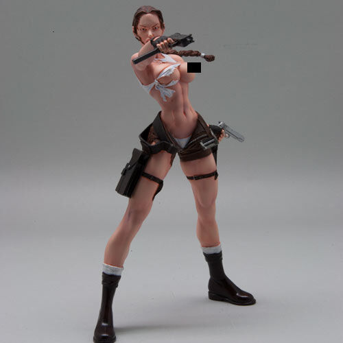 [SOL Model] c690, 1 9(200mm) scale Raider, Girl with Guns, resin figure