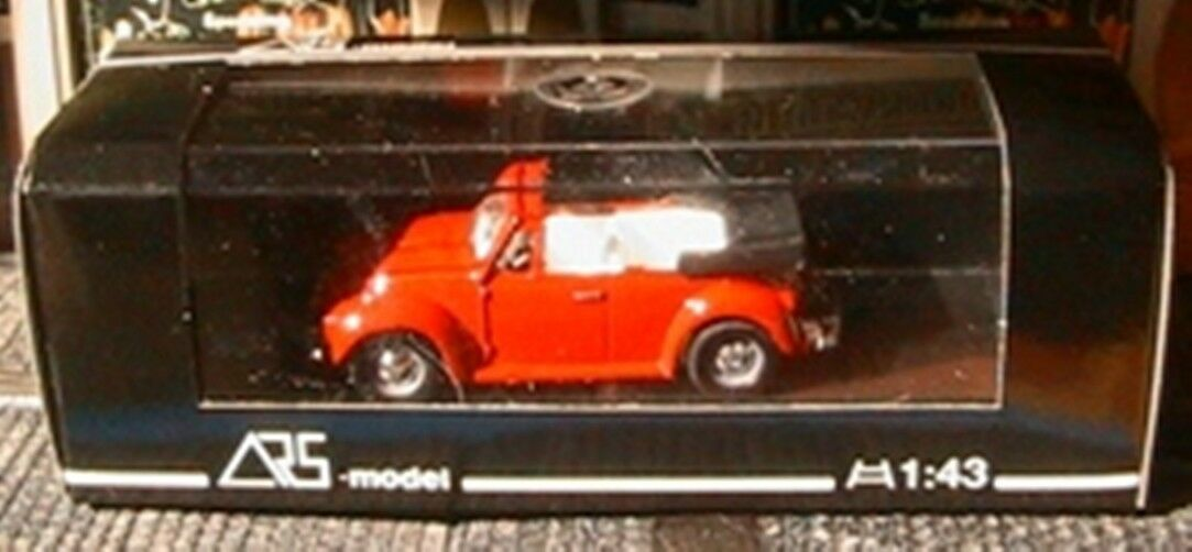 VW VOLKSWAGEN BEETLE CABRIOLET red ARS MODEL MADE IN IN IN ITALY 1 43 red red RED 228ae6