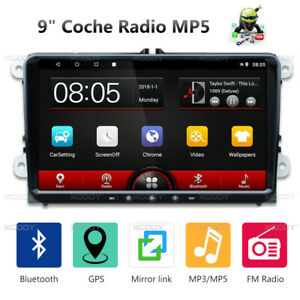 9-034-2-DIN-Android-8-1-Autoradio-Bluetooth-GPS-Navi-Para-VW-GOLF-5-6-Passat-Polo