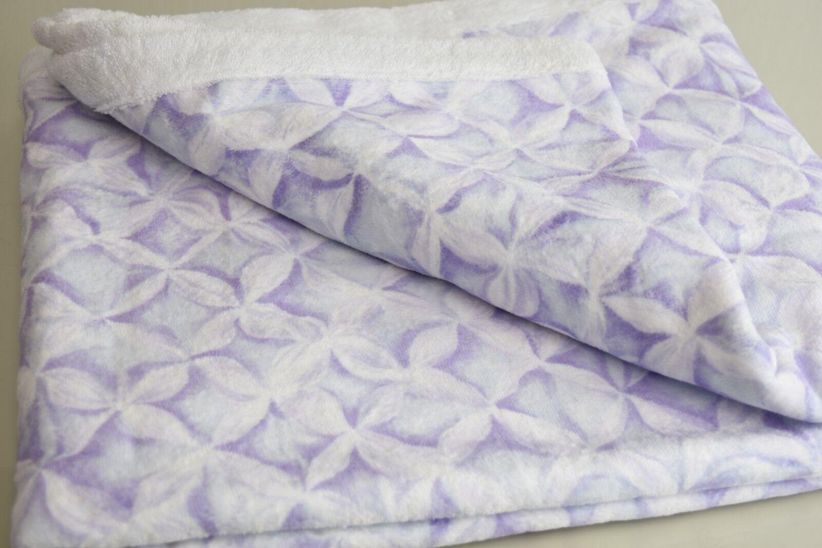 Nouveau Pratesi Ice Home Blanc Violet Lavande violets Bain Drap Serviette Tapis Bain