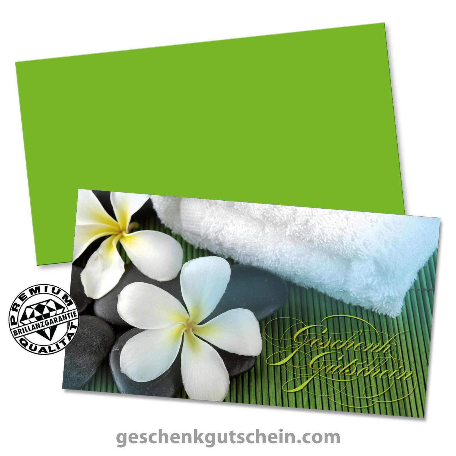 Gutscheinkarten mit KuGrün für Kosmetik Wellness Spa Massage MA1227