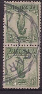 Tasmania-LAUNCESTON-oval-parcel-stamp-on-2-x-1-Lyrebird-issues