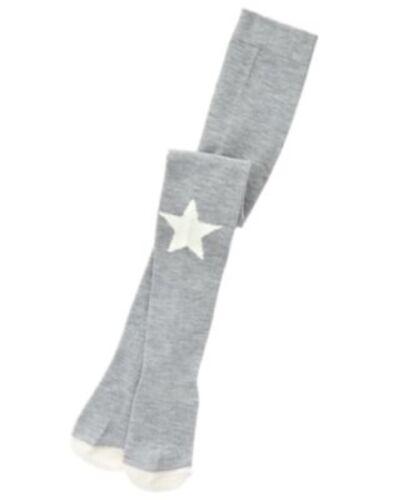 GYMBOREE STARRY NIGHT GRAY w// WHITE STAR FASHION KNEE TIGHTS 12 24 NWT