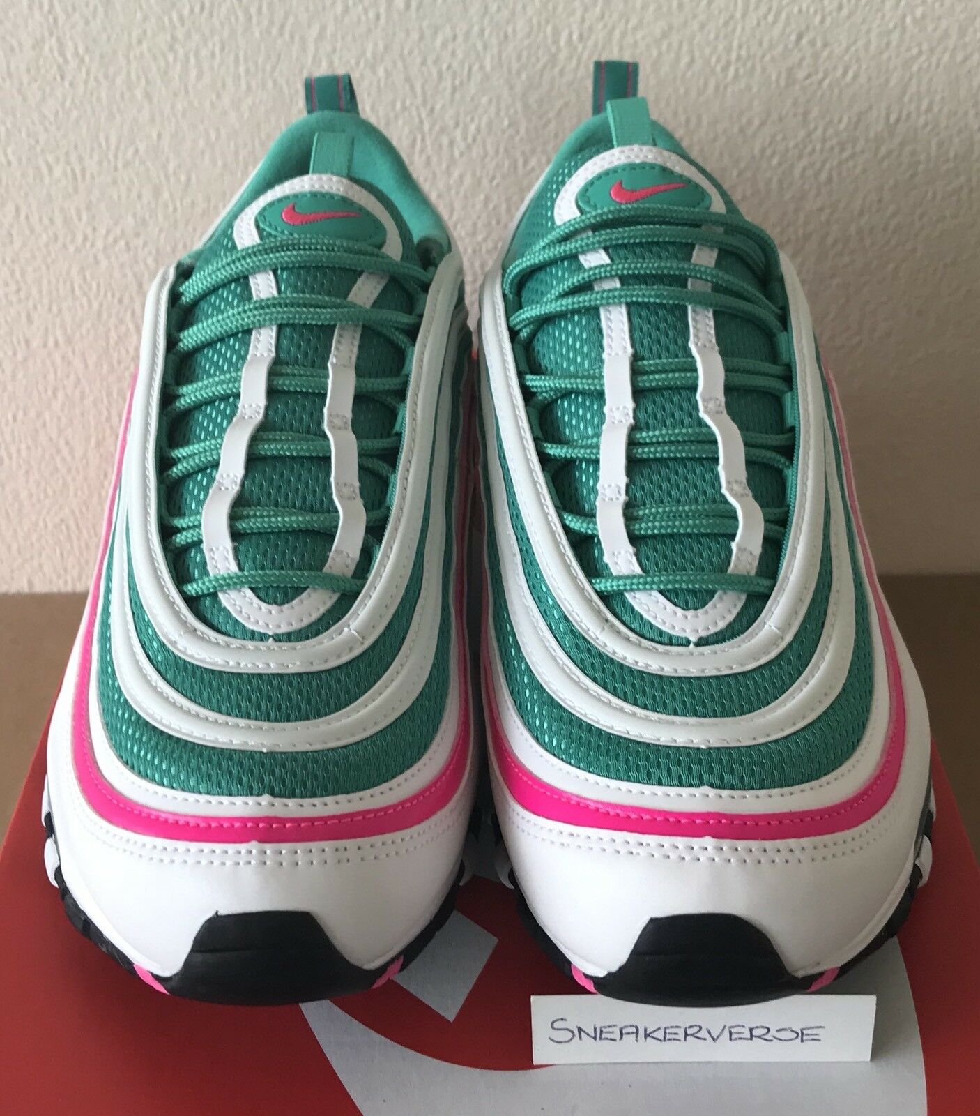 Nike Air Max 97 'South Beach' Tidal Wave10 Miami Vert Rose Blanc 921826 102