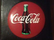 """1990 16"""" COKE Button Coca Cola metal sign Excellent"""