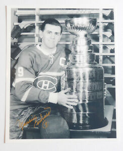 Maurice Richard original Picture autograph with Stanley Cup HOF Montreal Canadie