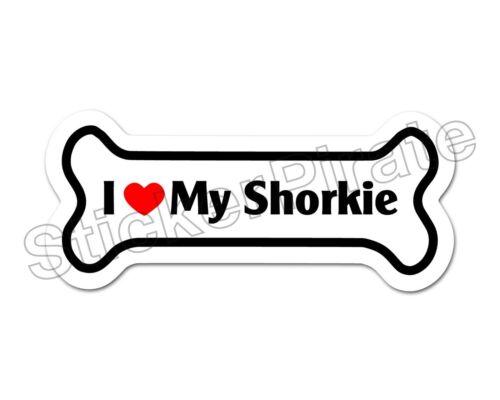 *Dog Bone Magnet* I Love My Shorkie  Car Truck Locker