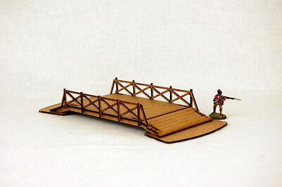 Old West Cowboy Building RAILED BRIDGE 25mm, 28mm Terrain M024