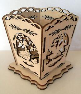 Bastelset Teelichthalter Gans Ganse Aus Holz Basteln Fur Ostern