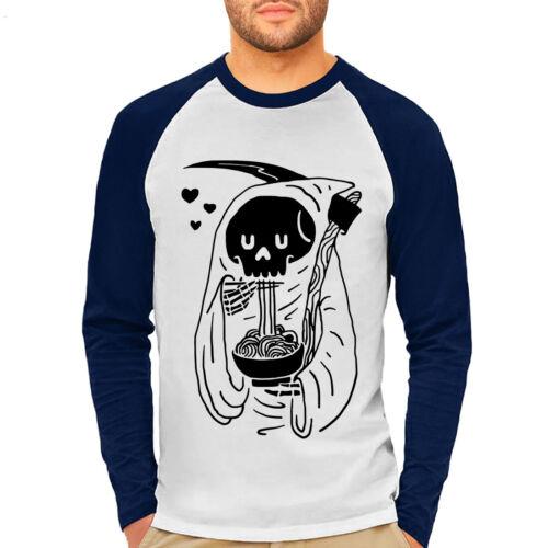 Ramen Noodles Food T-Shirt Grim Reaper Funny Skeleton Japanese Asian Goth P149LS