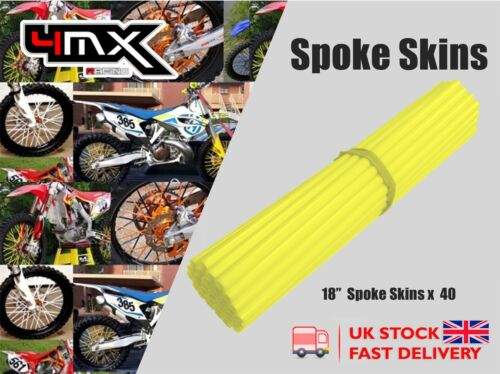 "Wheel Spoke Protectors Neon Yellow 18/"" fits Honda CRF100 F 04-11"