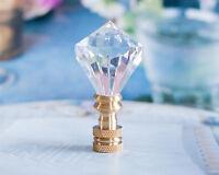 One Acrylic Crystal - Diamond Ii - Lamp Shade Finial