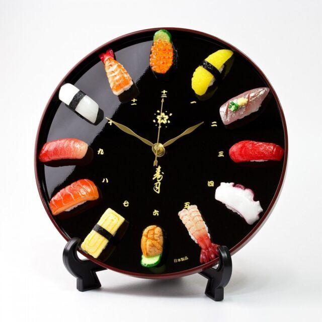 Just like genuine Sushi wall & table Clock Japanese Craftsman Food Sample Figure