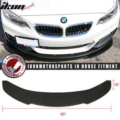 Universal V1 Style 65x16 Inch Front Bumper Lip Spoiler PU Polyurethane