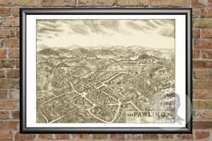 Old-Map-of-Pawling-NY-from-1909-Vintage-New-York-Art-Historic-Decor