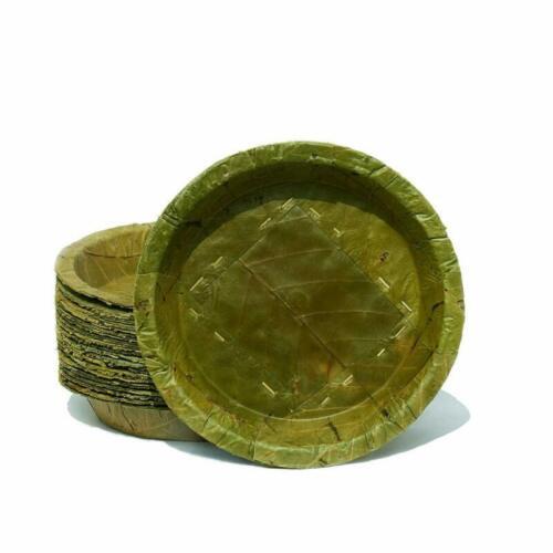 100/% Compostable and TAPARI Sturdy Eco-Friendly Disposable Leaf Plates Ø 23cm