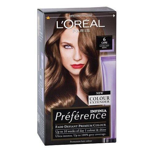 Loreal Paris Preference Hair Colour 6 Capri Natural Light Brown Ebay