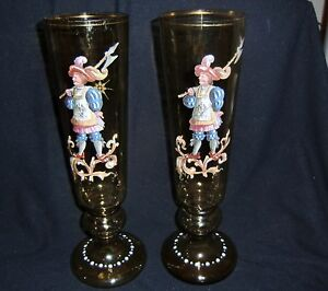 Early 20th Century Big Clearance Sale Flight Tracker Two German Historismus Vases In Vgc Late 19th