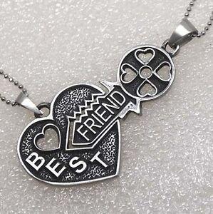 Friendship best friends w friend key jigsaw split heart silver image is loading friendship best friends w friend key jigsaw split mozeypictures Choice Image