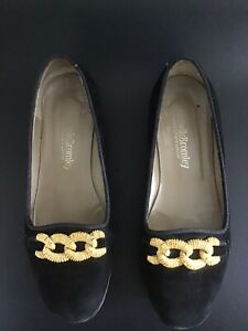 Russell-And-Bromley-Black-Suede-Loafers-Size-37-5