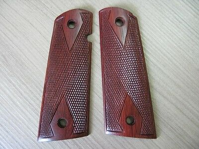 Clone,Kimber New,Wood Checkered Grips for Colt 1911 Full Size Government