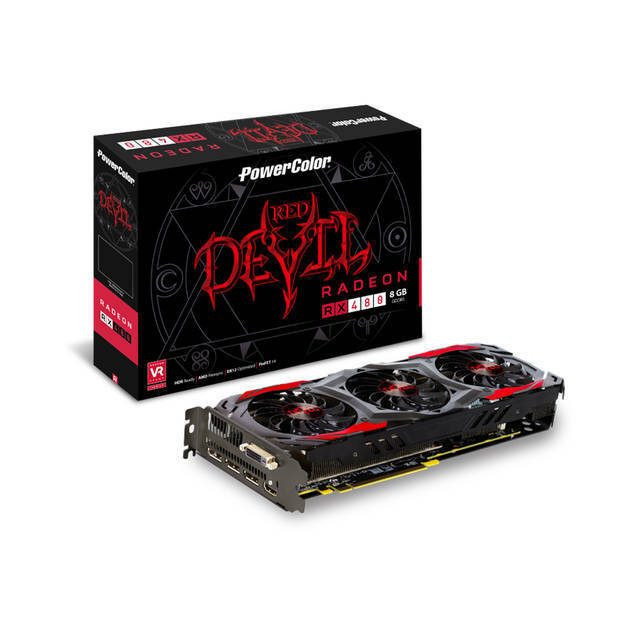 PowerColor Red Devil AMD Radeon RX 480 8GB GDDR5 DVI/HDMI/3DisplayPort PCI-Expre