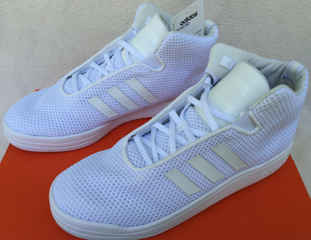 Adidas Veritas Mid B34530 Triple blanc Casual Basketball Sneaker chaussures homme 9.5