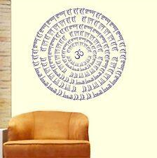 Asmi Collections Wall Stickers Om Hari Krishna Hari Ram