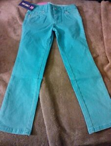 New-Girl-039-s-Teal-Blue-Skinny-Colored-Denim-Jeans-Size-5-Cherokee