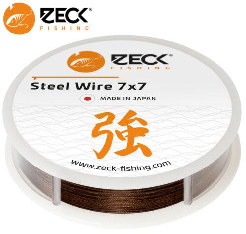 Zeck Steel Wire 7x7 3m 1,65€//1m Vorfachmater Stahlvorfach Raubfischvorfach