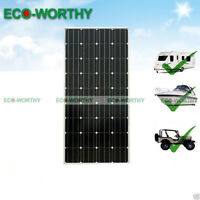 12v 160watts Mono Solar Panel For Home Boat Camping Business Electric Supply