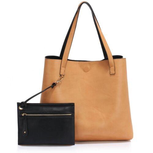LeahWard® Women/'s Faux Leather Tote Grab Handbags Shoulder Bags Reversible Tote