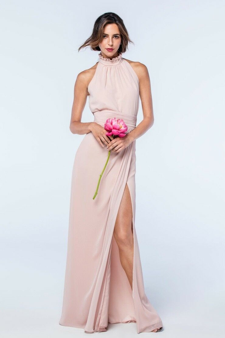 2 Piece Dress, Top and Skirt, Bridesmaid, Prom, Size 0 Watters & Watters, Buff