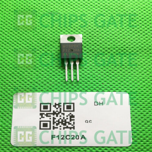 2PCS F12C20A Transistor POWER RECTIFIERS MOSPEC TO-220