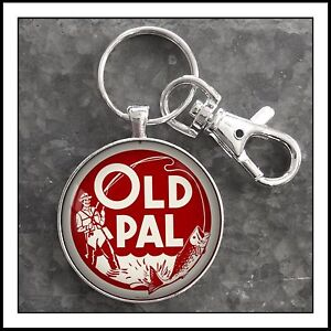 Vintage-Fishing-Old-Pal-Minnow-Bucket-Photo-Keychain-Father-039-s-Day-Gift