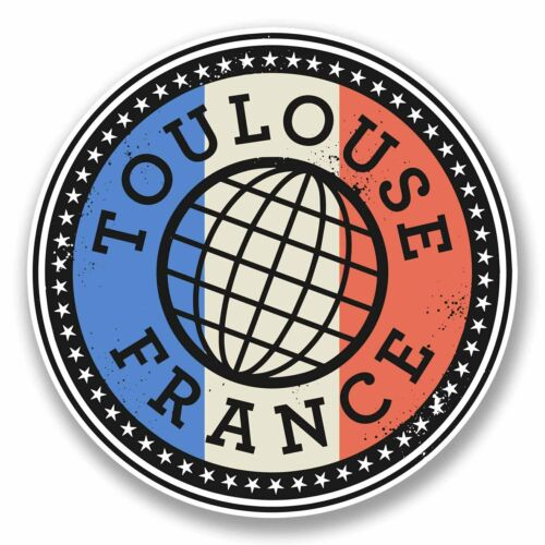 2 x 10cm Toulouse France Vinyl Sticker Laptop Travel Luggage Label French #9847