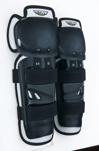 Fox Racing Titan Sport Knee//Shin Guard Black Protection Off Road Dirt Bike 04268