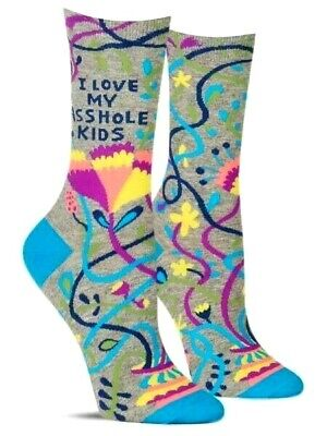 Blue Q   I F*cking Love It Out Here   Women/'s Crew Sock  Novelty Gift 4-9