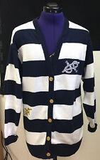 Damen Strickjacke Jacke Damenjacke Damenstrickjacke blau weiß Gr. 36/38
