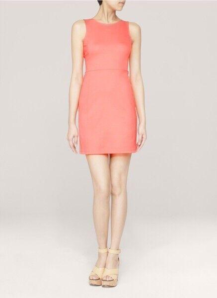 Theory Women's Melon Daniko Pryor Perfect Stretch Ponte Knit Tank Dress NWT