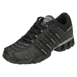 comprar baratas b3f84 2da9f Detalles de Aire Tech Vengador Niños Zapatillas Deportivas Negras con  Cordones UK 13 ,1 ,2,5