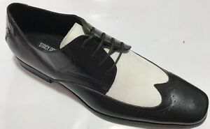 Chaussures Blanc Imprimé Adams Atticus Détails Stacy HabilléesCuir Smoking HOMME Lisse sur 29YeWEbDIH