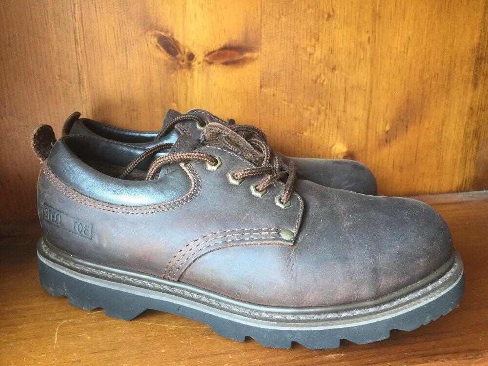 SALE @ NEW TERRAIN Oil Resistant Steel Toe Jack Hammer Work Boots Men Sz 10 ❤️b1