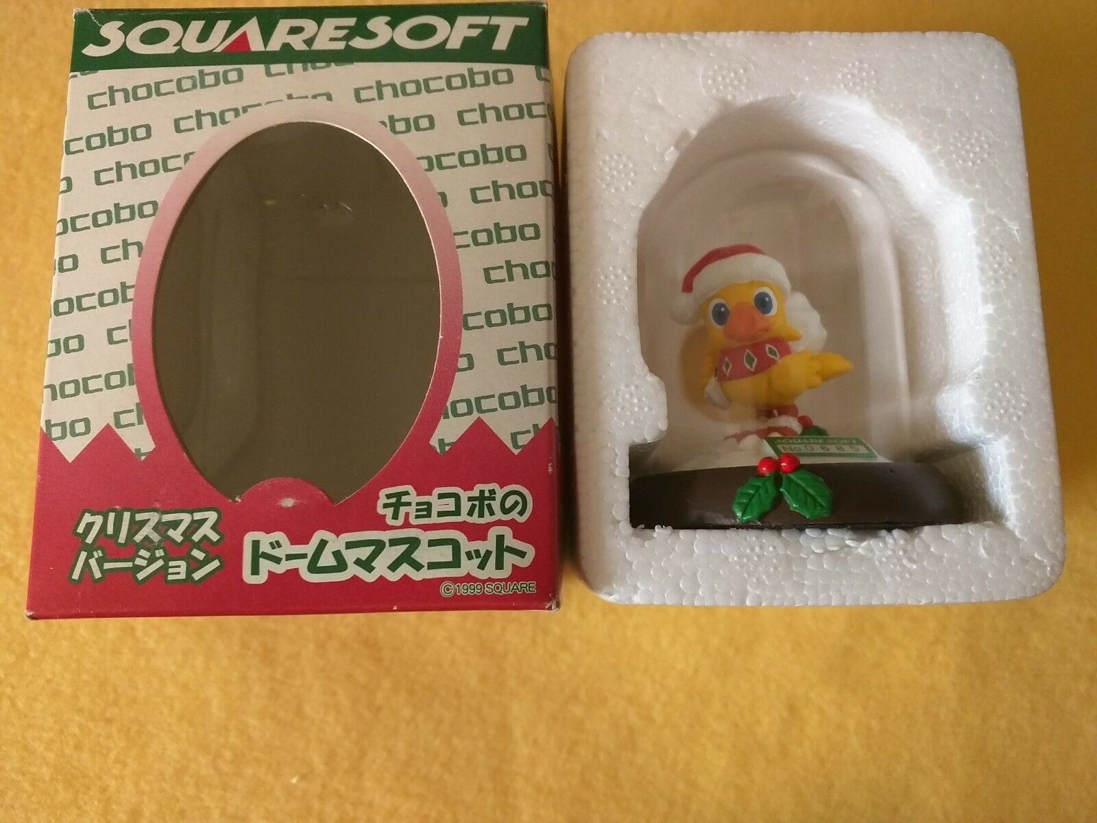 Figurine Statue Chocobo Dome Noel Christmas edition limited 685 - boite box