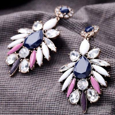 Best Fashion Women's Crystal Rhinestone Ear Stud Dangle Earrings Charm Jewelry