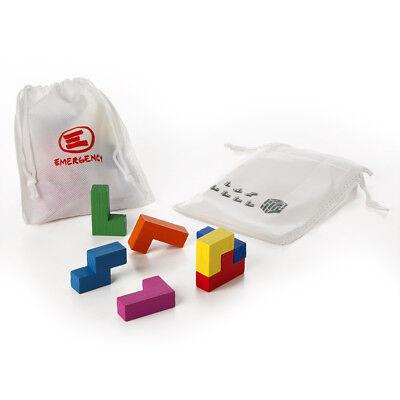 Emergency: Cubo tetris in legno colorato