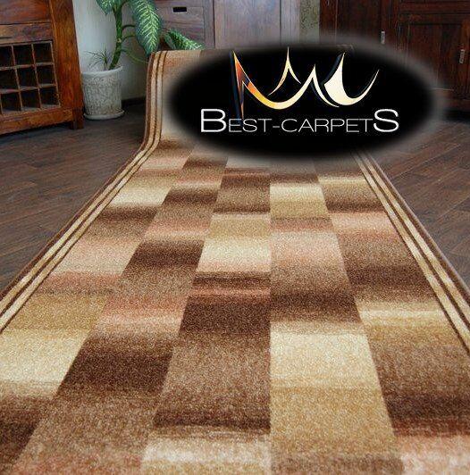 Épais tapis de coureur ikat beige moderne 67-100cm antidérapant escaliers largeur 67-100cm moderne extra long 0e507c
