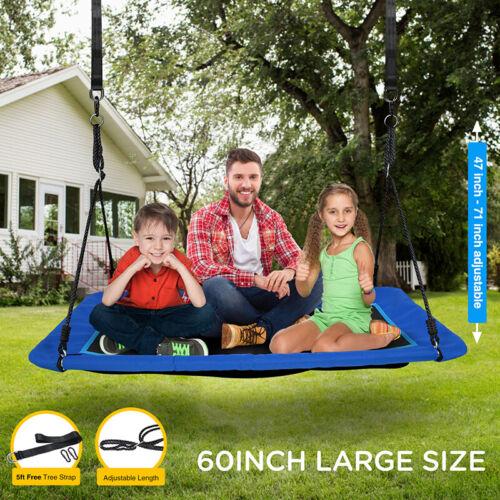 60/'/' Saucer Tree Swing Surf Outdoor Adjustable Kids/&Adults Rectangular Platform