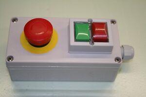 Gehaeuse-mit-Taster-Ein-Aus-Not-Aus-K-amp-B-7221-IP65-aP-Drucktaster-Motor